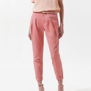 Zara front pleat cropped ankle pants